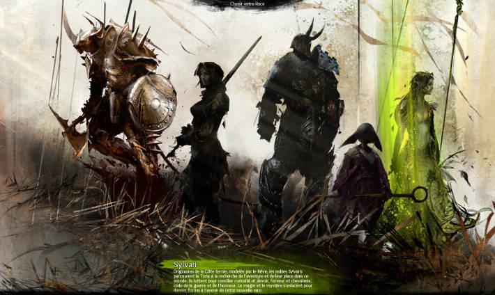 Choix de la race dans Guild Wars 2