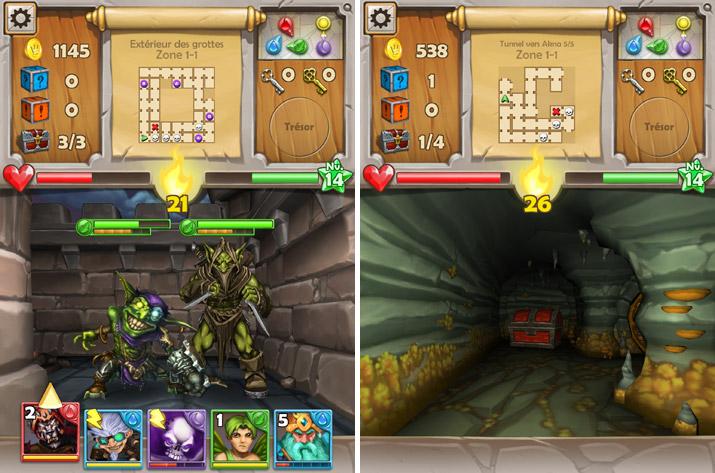 parcours de donjons dans Dungeon Monsters