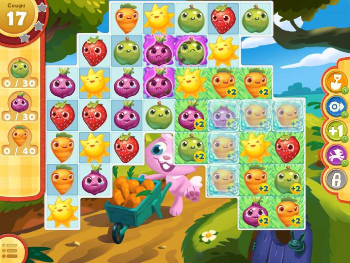 Image d'un des niveaux de Farm Heroes Saga