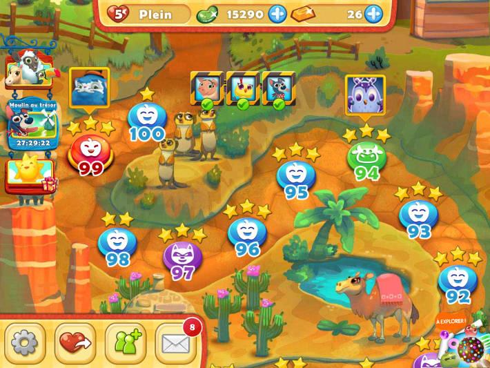 Parcours des niveaux Farm Heroes Saga