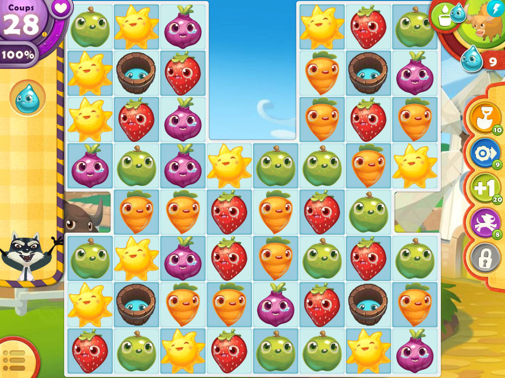 test jeu farm heroes saga  match 3 fruits et l u00e9gumes par jour