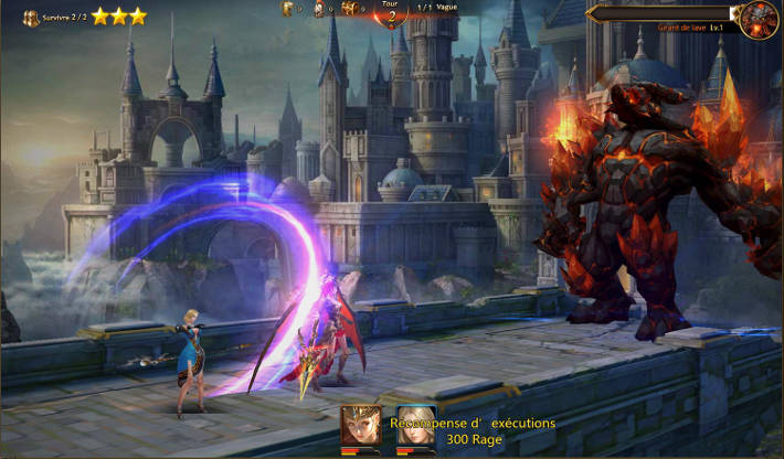 Combat contre un boss : League of Angels 2