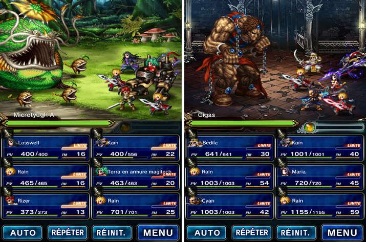 Les combats dans Final Fantasy Brave Exvius