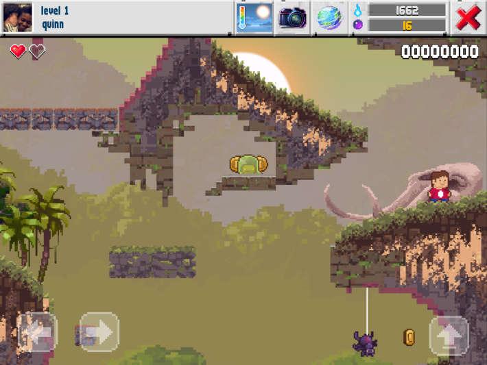 Exmeple de jeu de plate-forme sur The Sandbox Evolution