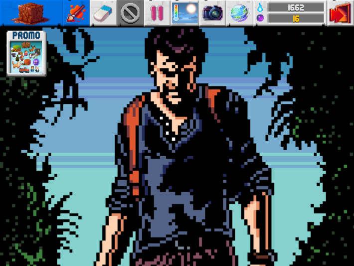 Uncharted 4 en Pixel Art : The Sanbox Evolution