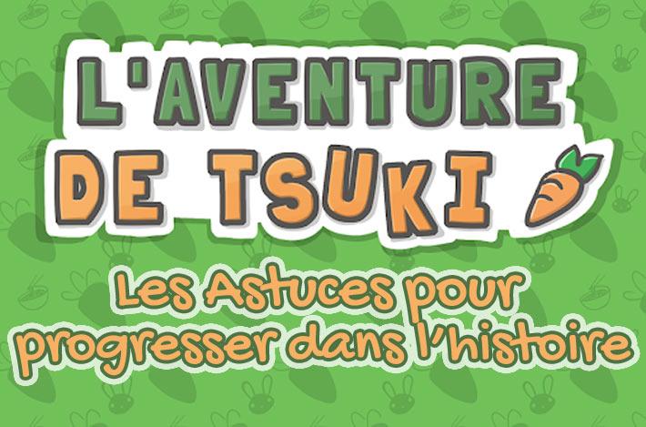 L'aventure de Tsuki, bien avancer dans l'histoire astuces